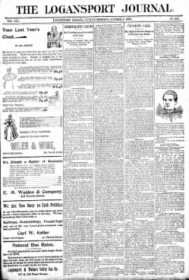 Logansport Pharos-Tribune from Logansport, Indiana on October 4, 1896 · Page 1