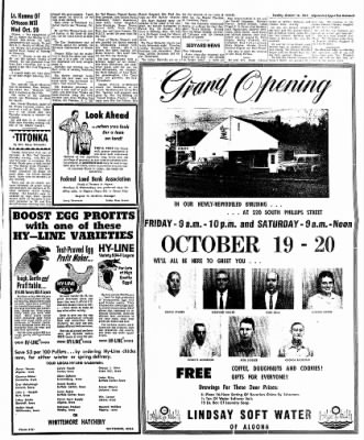 The Algona Upper Des Moines from Algona, Iowa on October 16, 1962 · Page 9