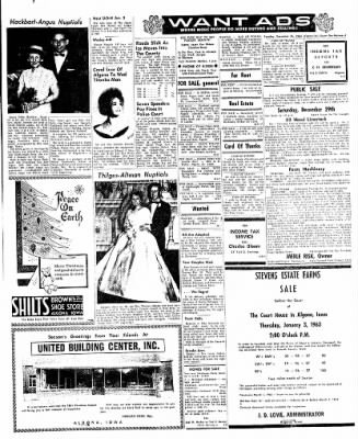 The Algona Upper Des Moines from Algona, Iowa on December 25, 1962 · Page 7
