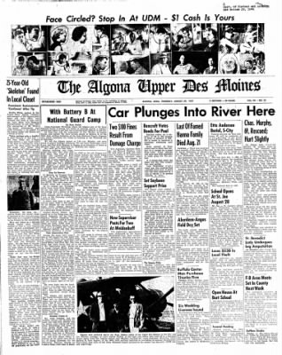 The Algona Upper Des Moines from Algona, Iowa on August 29, 1957 · Page 21