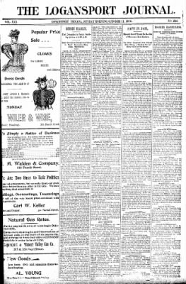 Logansport Pharos-Tribune from Logansport, Indiana on October 11, 1896 · Page 1