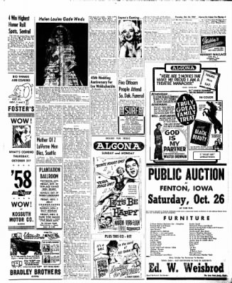 The Algona Upper Des Moines from Algona, Iowa on October 24, 1957 · Page 13