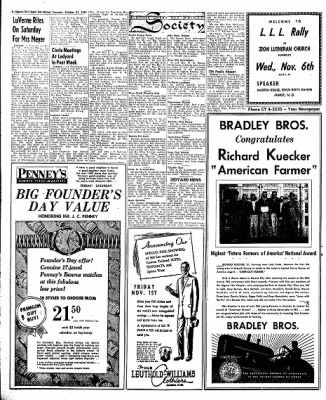 The Algona Upper Des Moines from Algona, Iowa on October 31, 1957 · Page 8