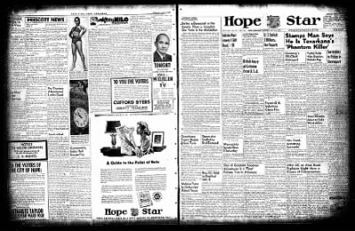 Hope Star from Hope, Arkansas on July 22, 1954 · Page 1
