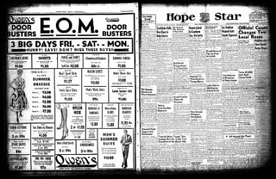Hope Star from Hope, Arkansas on July 30, 1954 · Page 1