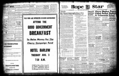 Hope Star from Hope, Arkansas on August 3, 1954 · Page 1