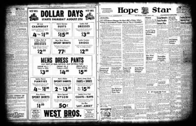 Hope Star from Hope, Arkansas on August 5, 1954 · Page 1