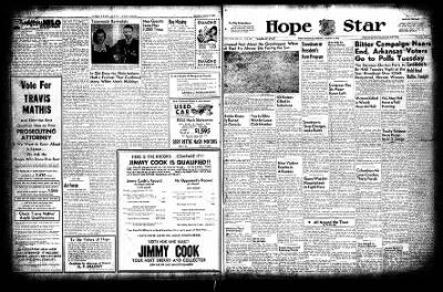 Hope Star from Hope, Arkansas on August 9, 1954 · Page 1