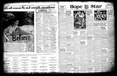 Hope Star from Hope, Arkansas on August 14, 1954 · Page 1