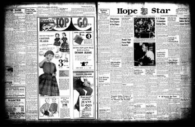 Hope Star from Hope, Arkansas on August 19, 1954 · Page 1