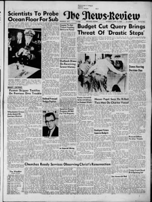 The News-Review from Roseburg, Oregon on April 13, 1963 · Page 1