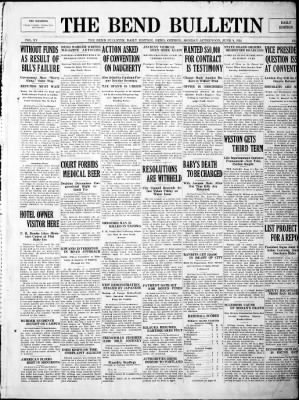 The Bend Bulletin from Bend, Oregon on June 9, 1924 · Page 1