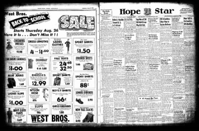 Hope Star from Hope, Arkansas on August 26, 1954 · Page 1
