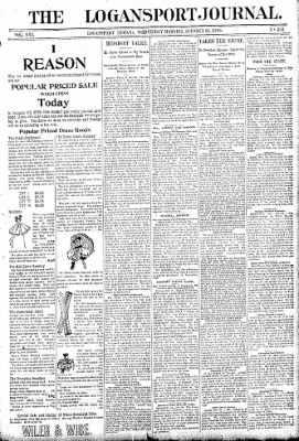 Logansport Pharos-Tribune from Logansport, Indiana on October 21, 1896 · Page 1