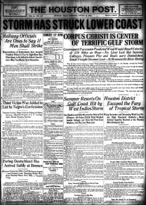 The Houston Post from Houston, Texas on August 19, 1916 · Page 1