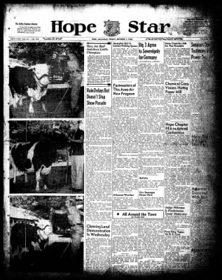 Hope Star from Hope, Arkansas on October 1, 1954 · Page 1