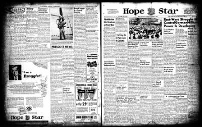 Hope Star from Hope, Arkansas on October 7, 1954 · Page 1