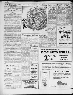 The Bend Bulletin from Bend, Oregon on June 28, 1952 · Page 4