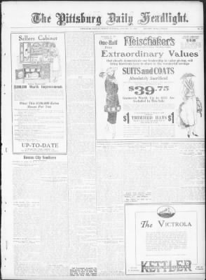 the pittsburg daily headlight from pittsburg kansas on january 14  the pittsburg daily headlight from pittsburg kansas on january 14 1921 page 9