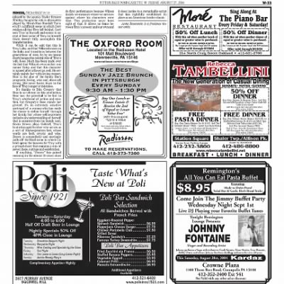 Pittsburgh Post-Gazette from Pittsburgh, Pennsylvania on August 27, 2004 · Page 89