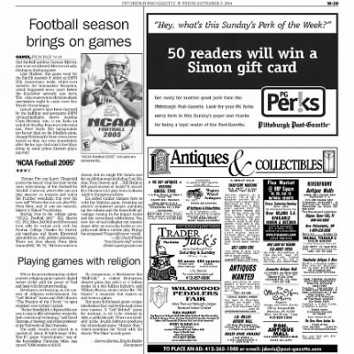 Pittsburgh Post-Gazette from Pittsburgh, Pennsylvania on September 3, 2004 · Page 111