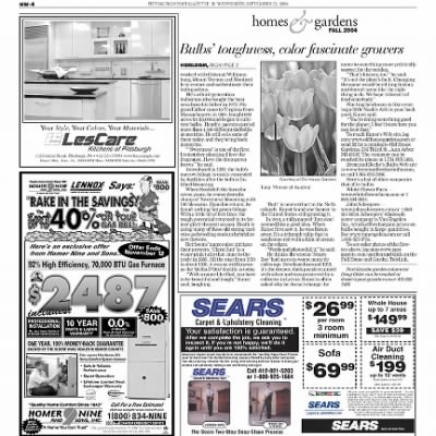 Pittsburgh Post-Gazette from Pittsburgh, Pennsylvania on September 22, 2004 · Page 76