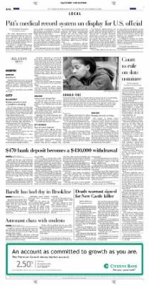 Pittsburgh Post-Gazette from Pittsburgh, Pennsylvania on September 23, 2004 · Page 16