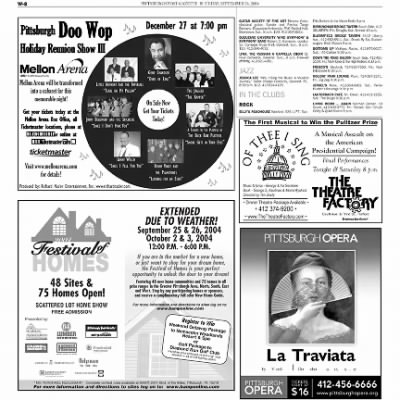 Pittsburgh Post-Gazette from Pittsburgh, Pennsylvania on September 24, 2004 · Page 70