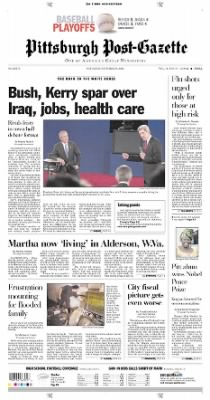 Pittsburgh Post-Gazette from Pittsburgh, Pennsylvania on October 9, 2004 · Page 1