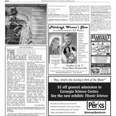 Pittsburgh Post-Gazette from Pittsburgh, Pennsylvania on October 15, 2004 · Page 80