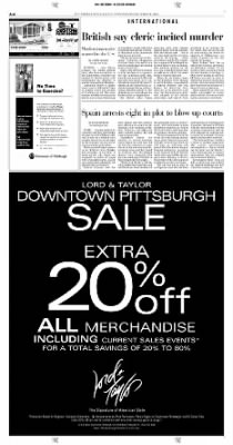 Pittsburgh Post-Gazette from Pittsburgh, Pennsylvania on October 20, 2004 · Page 6