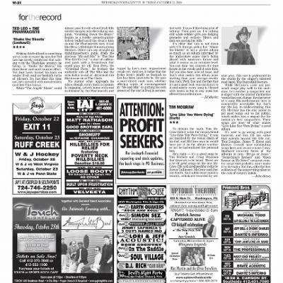 Pittsburgh Post-Gazette from Pittsburgh, Pennsylvania on October 22, 2004 · Page 95