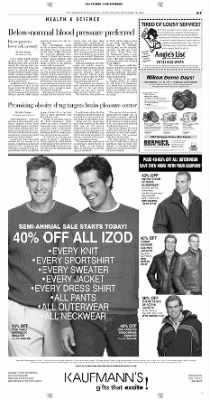 Pittsburgh Post-Gazette from Pittsburgh, Pennsylvania on November 10, 2004 · Page 9