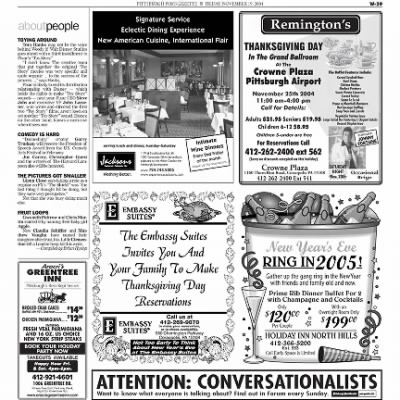 Pittsburgh Post-Gazette from Pittsburgh, Pennsylvania on November 19, 2004 · Page 100