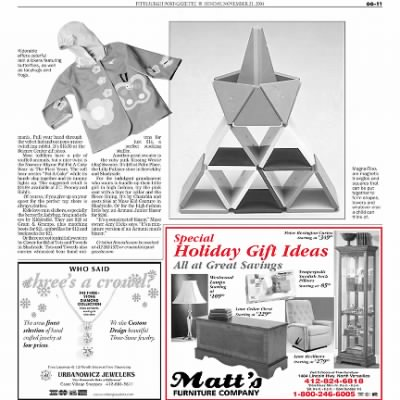 Pittsburgh Post-Gazette from Pittsburgh, Pennsylvania on November 21, 2004 · Page 100