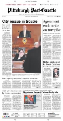Pittsburgh Post-Gazette from Pittsburgh, Pennsylvania on December 1, 2004 · Page 1
