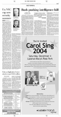 Pittsburgh Post-Gazette from Pittsburgh, Pennsylvania on December 3, 2004 · Page 11