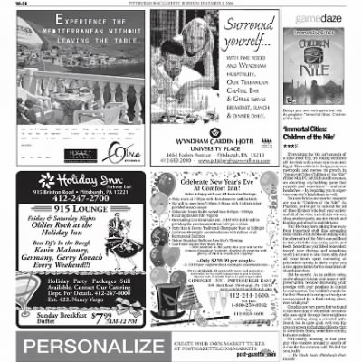 Pittsburgh Post-Gazette from Pittsburgh, Pennsylvania on December 3, 2004 · Page 97