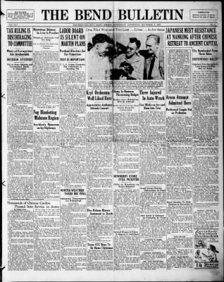 The Bend Bulletin from Bend, Oregon on December 8, 1937 · Page 1