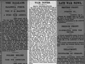 August 1916 article about Australians during the Battle of the Somme