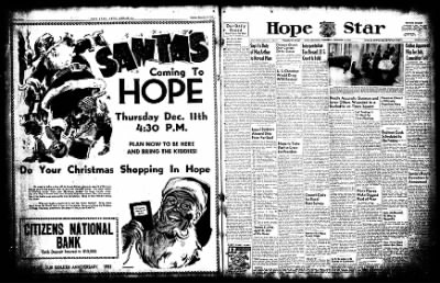 Hope Star from Hope, Arkansas on December 10, 1952 · Page 1