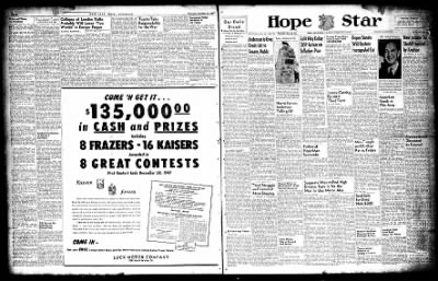 Hope Star from Hope, Arkansas on December 18, 1947 · Page 1