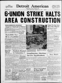 Sample Detroit American front page