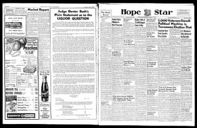 Hope Star from Hope, Arkansas on August 2, 1946 · Page 1