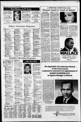 Detroit Free Press from Detroit, Michigan on August 19, 1968 · Page 16