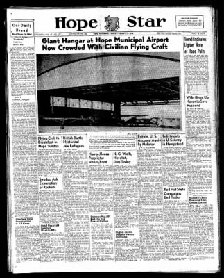 Hope Star from Hope, Arkansas on August 13, 1946 · Page 1