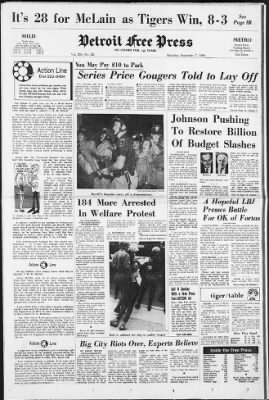 Detroit Free Press from Detroit, Michigan on September 7, 1968 · Page 1