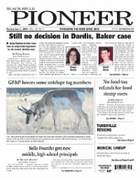 Sample The Black Hills Pioneer front page