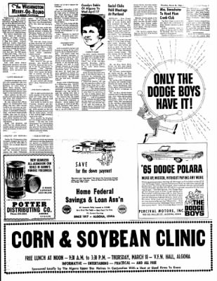 The Algona Upper Des Moines from Algona, Iowa on March 18, 1965 · Page 7