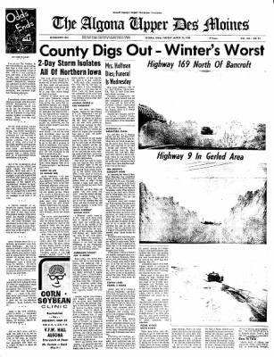 The Algona Upper Des Moines from Algona, Iowa on March 23, 1965 · Page 1
